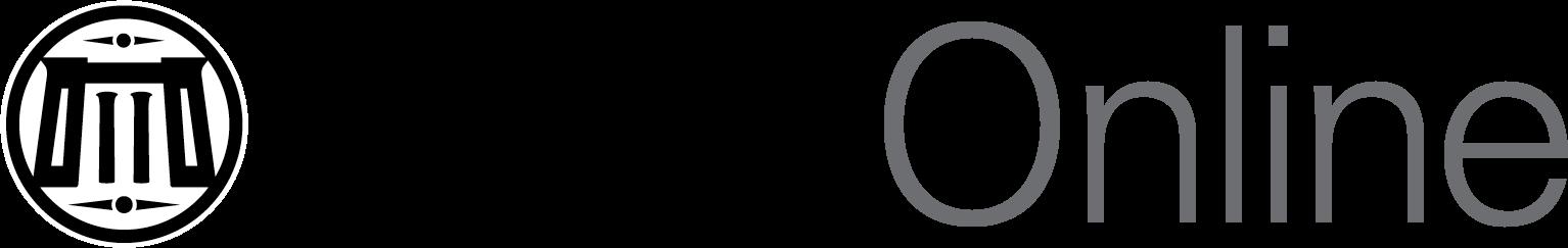 VCU Online brand logo in monotone